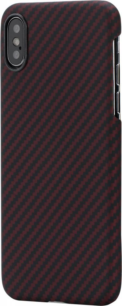 Клип-кейс Pitaka для Apple iPhone XS (черно-красный)