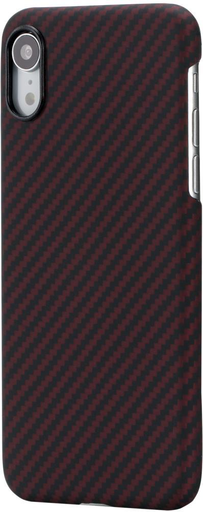 Клип-кейс Pitaka для Apple iPhone XR (черно-красный)