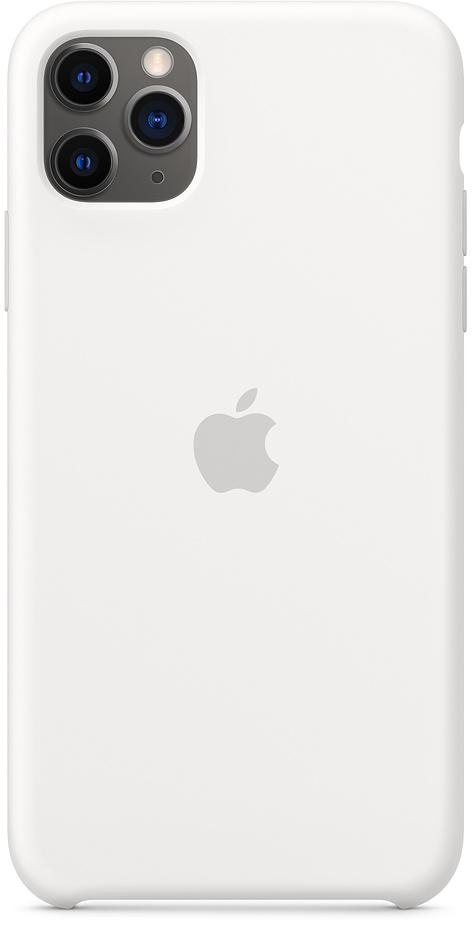 Клип-кейс Apple Silicone для iPhone 11 Pro Max (белый) фото