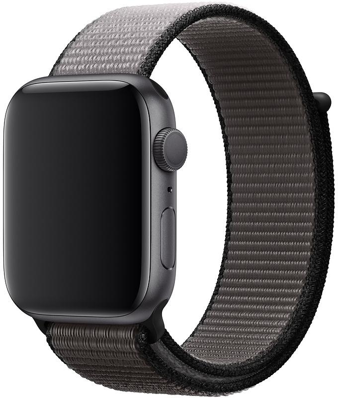 Ремешок Apple Sport Nylon Band для Watch 44 мм (тёмный графит) фото