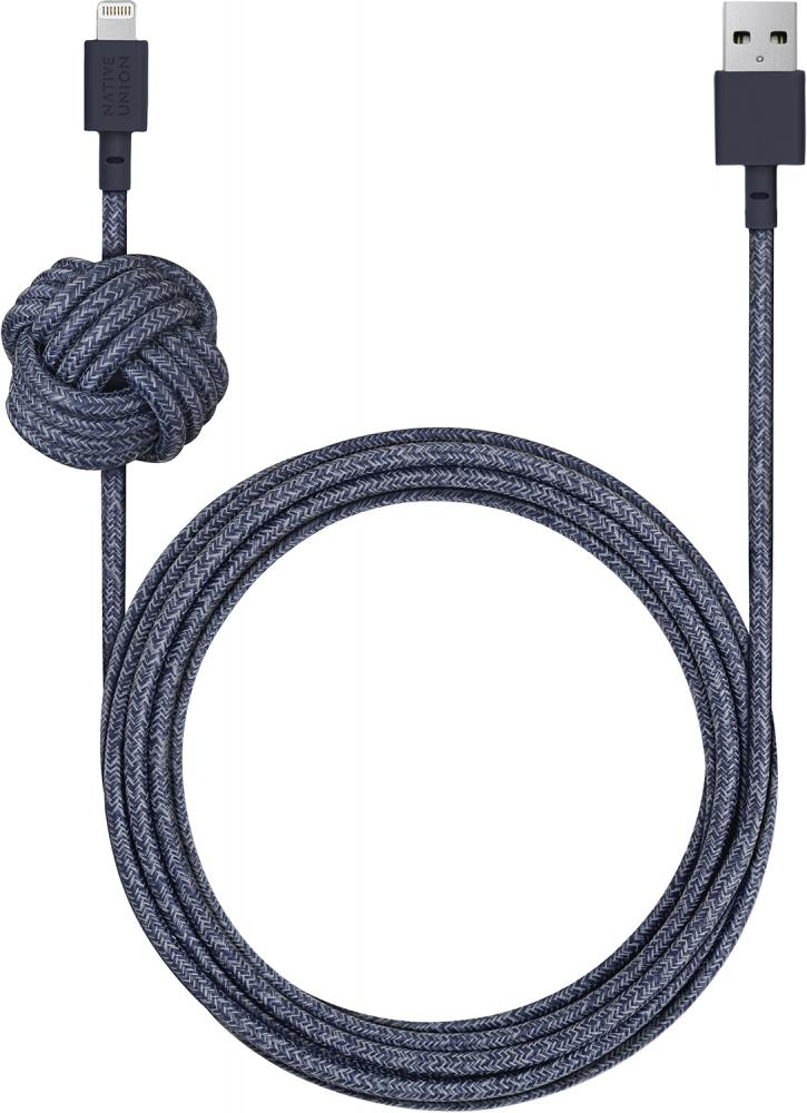 Кабель Native Union Night Cable Apple 8pin 3м (индиго) фото
