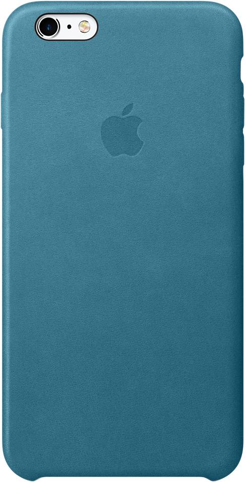 Клип-кейс Apple для iPhone 6 Plus/6S Plus кожаный (океанская синева) фото
