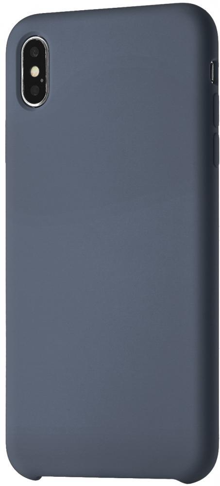 Клип-кейс uBear Silicone soft touch для Apple iPhone XS Max (темно-синий)