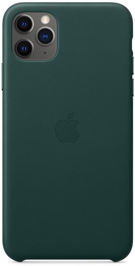 Клип-кейс Apple Leather для iPhone 11 Pro Max (зеленый лес) фото