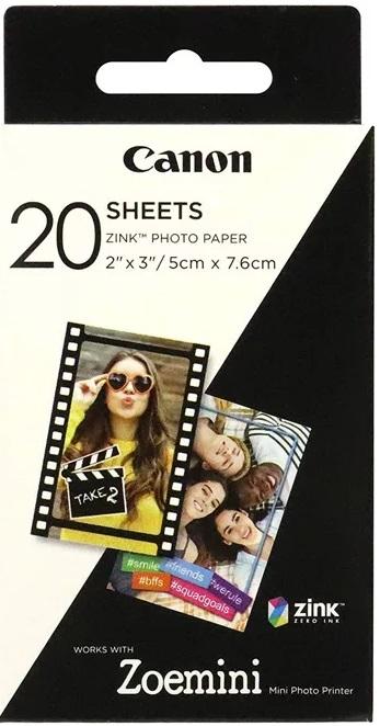 Фото - Фотобумага Canon Zink paper ZP-2030 (20 листов) canon фотобумага глянцевая 2311b003
