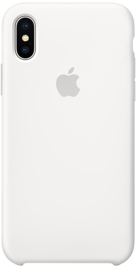 Клип-кейс Apple Silicone Case для iPhone X (белый)