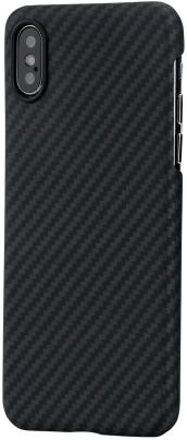 Клип-кейс Pitaka для Apple iPhone X/XS (черно-серый)