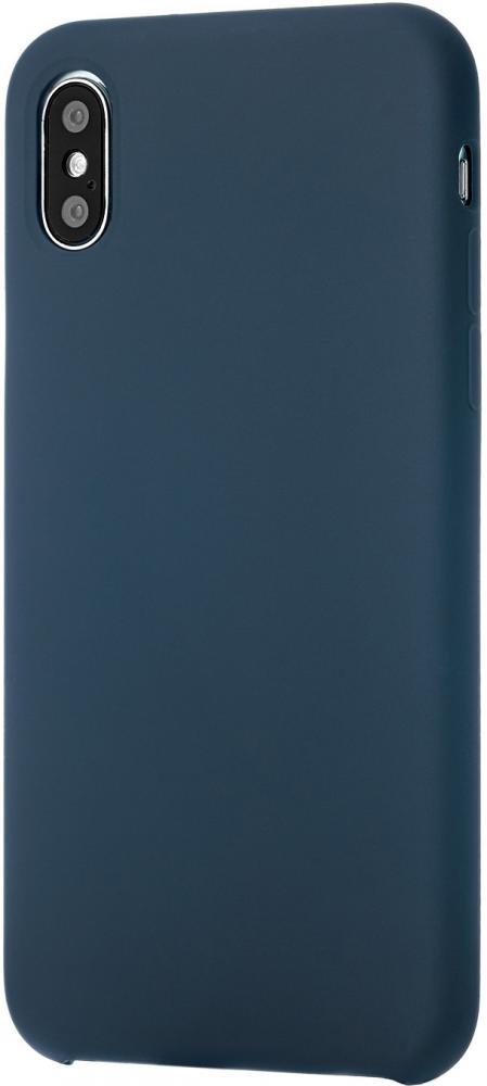 Клип-кейс uBear Silicone soft touch для Apple iPhone X (синий) фото