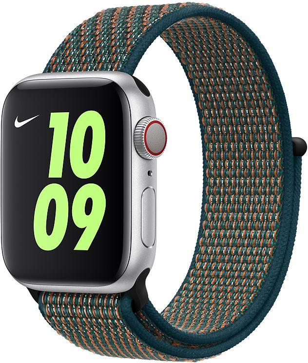 Ремешок Apple Sport Nike Nylon Band для Watch 40 мм (невероятная заря/зелёная пучина) фото