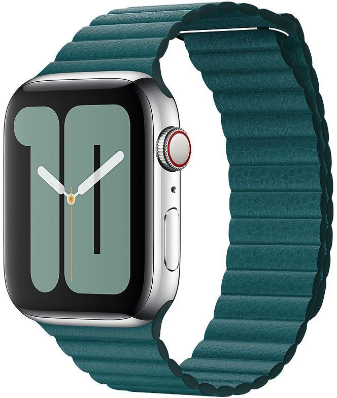 Ремешок Apple Leather Loop для Watch 44 мм размер L (зеленый павлин) фото