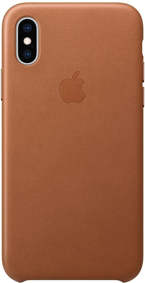 Клип-кейс Apple Leather для iPhone XS Max (золотисто-коричневый) фото