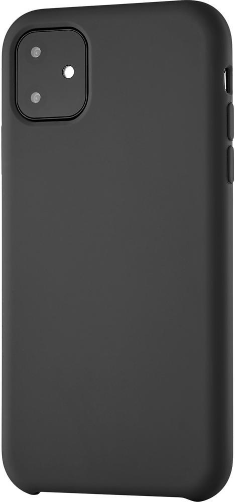 Клип-кейс uBear Siliconesoft touch дляApple iPhone 11 (черный) фото