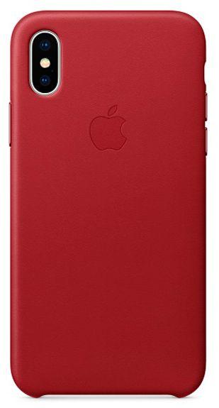 Клип-кейс Apple Leather Case для iPhone X (красный) фото