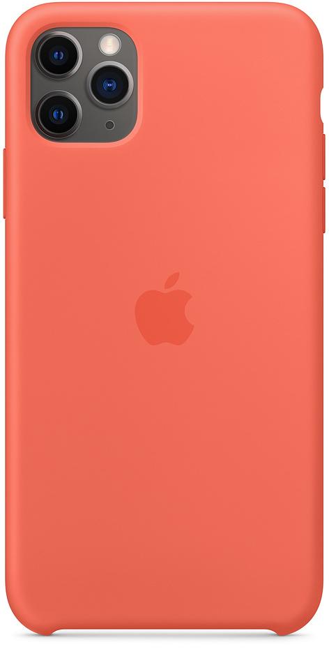 Клип-кейс Apple Silicone для iPhone 11 Pro Max (спелый клементин) фото