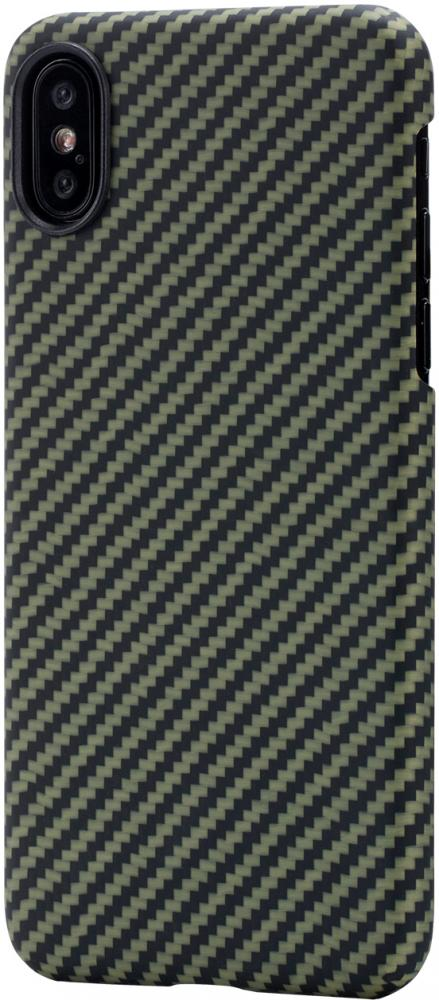 Клип-кейс Pitaka для Apple iPhone X (зелено-черный) фото