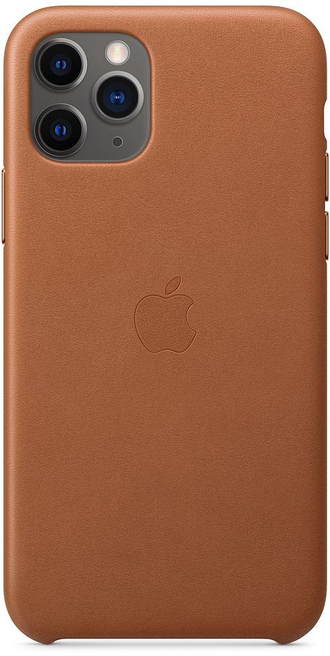 Клип-кейс Apple Leather для iPhone 11 Pro (золотисто-коричневый) фото