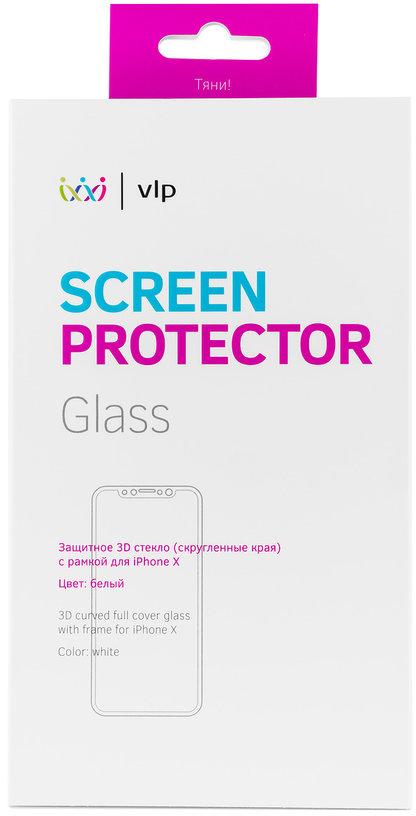 Защитное стекло VLP 3D для Apple iPhone X белая рамка фото