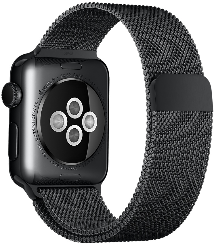Ремешок Apple Milanese Loop для Apple Watch 38/40mm (черный космос) фото