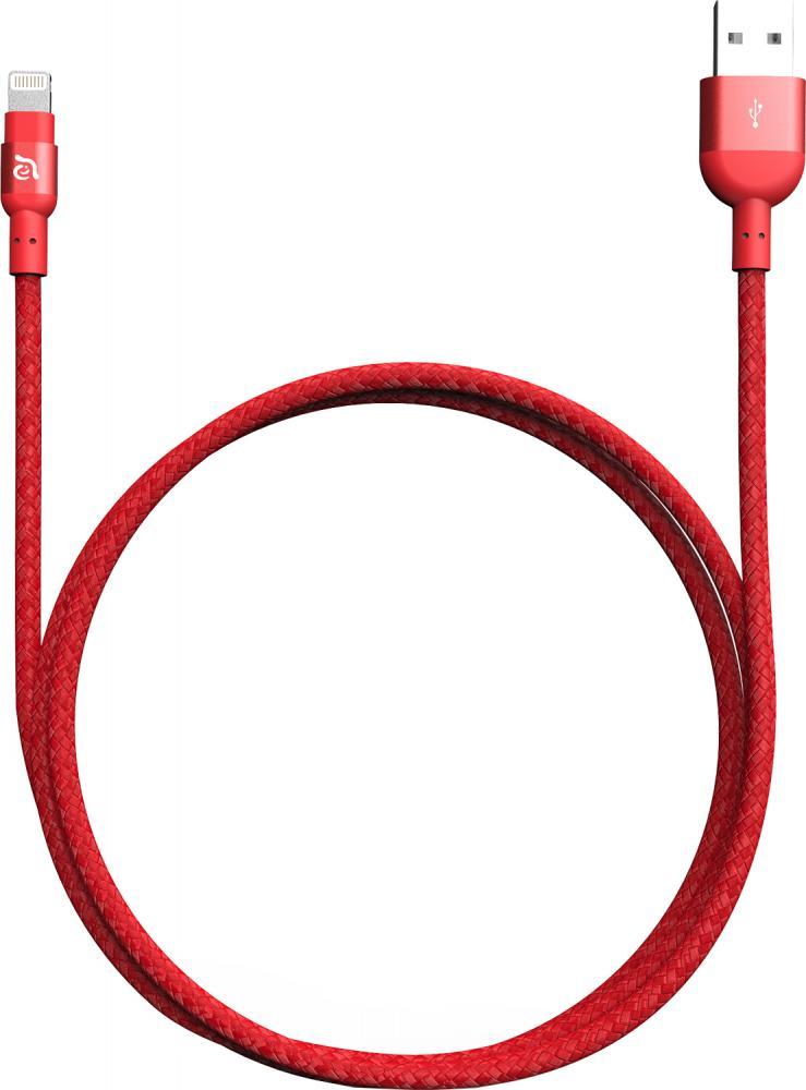 Кабель ADAM Elements Premium Aluminum Apple (8pin) 2м (красный)