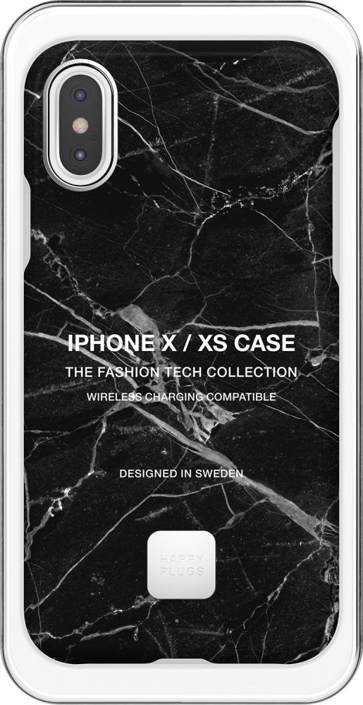 Клип-кейс Happy Plugs для Apple iPhone XS Black Marble (черный мрамор)