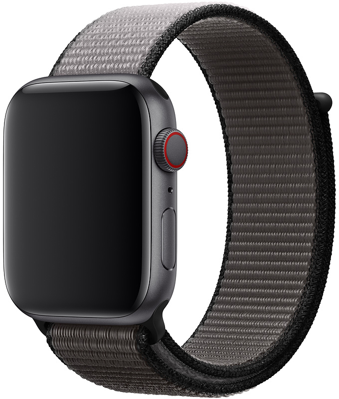 Ремешок Apple Sport Nylon Band для Watch 44 мм размер XL (тёмный графит) фото