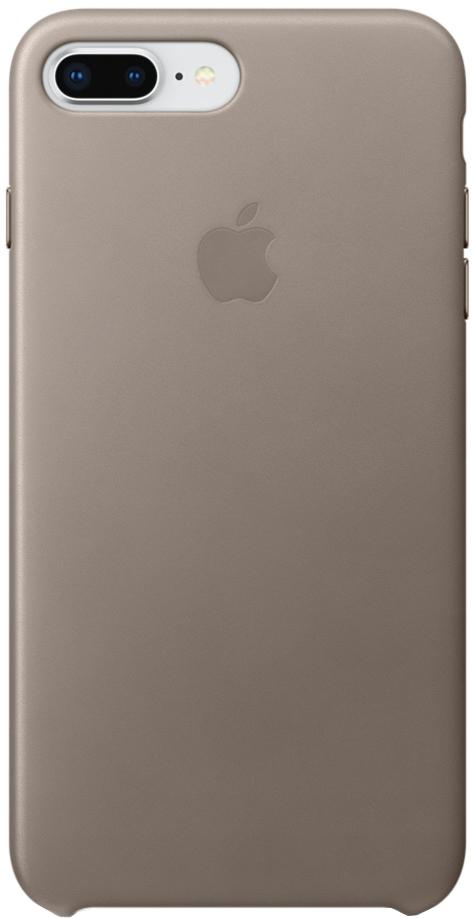 Клип-кейс Клип-кейс Apple Leather Case для iPhone 7/8 Plus (платиново-серый)