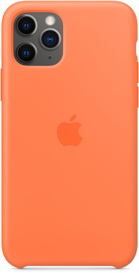 Чехол Apple Silicone для Apple iPhone 11 Pro (оранжевый) фото