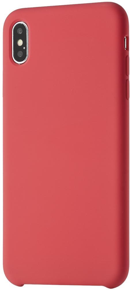 Клип-кейс uBear Silicone soft touch для Apple iPhone XS Max (красный) фото